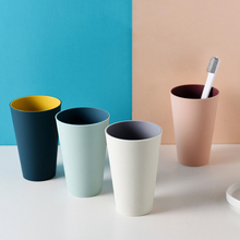 Домашние двухцветные кружки Простые Модные чашки для мытья пар простые пластиковые кружки для мытья кружки для зубной щетки большая кружка для мытья ванной комнаты