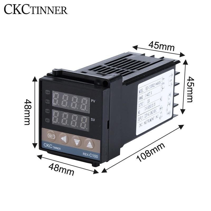 Hot DealsTemperature-Controller REX-C100 Digital Thermocouple-Probe/heat-Sink PID RKC Ssr-Relay/k