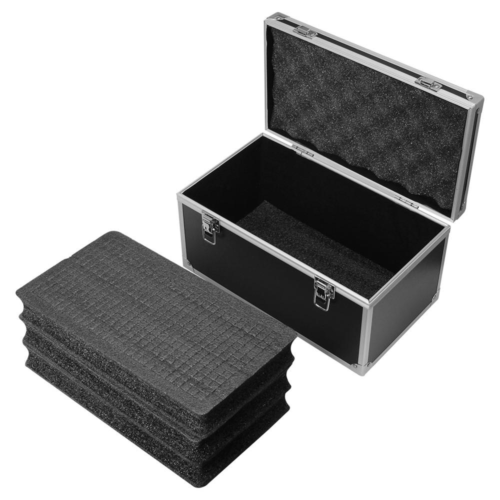 Aluminum Alloy Toolbox Shockproof Instrument Box Portable Parts Box Safety Equipment Case Outdoor Box 30x17x16cm