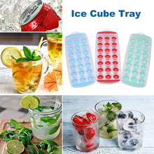 Ice Cube Tray Easy Pop Out Plastic Flexible Silicone Bottom Top Mold TPR Soft Bottom Ice Cube Mold Random Color cube touring easy entry 2017