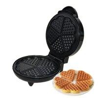 DMWD Electric mini Waffle machine non stick waffle maker household kitchen DIY cake dessert Round shape cooking pan breakfast EU