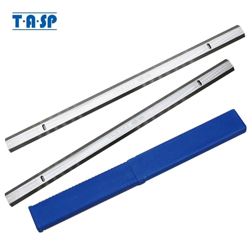 TASP 319mm HSS Thickness Planer Blade 319x18.2x3.2mm Wood Planer Knife For Ryobi ETP1531AK  JET JWP-12 GMC MA1931 CT-340 COBRA