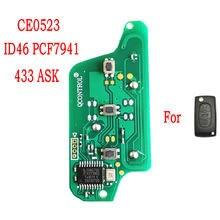 Datong – clé télécommande de voiture mondiale, PCB de remplacement pour Peugeot 407 408 307 308 607 citroën C2 C3 C4 C5 ID46 PCF7941 puce 433 ASK Smart PCB