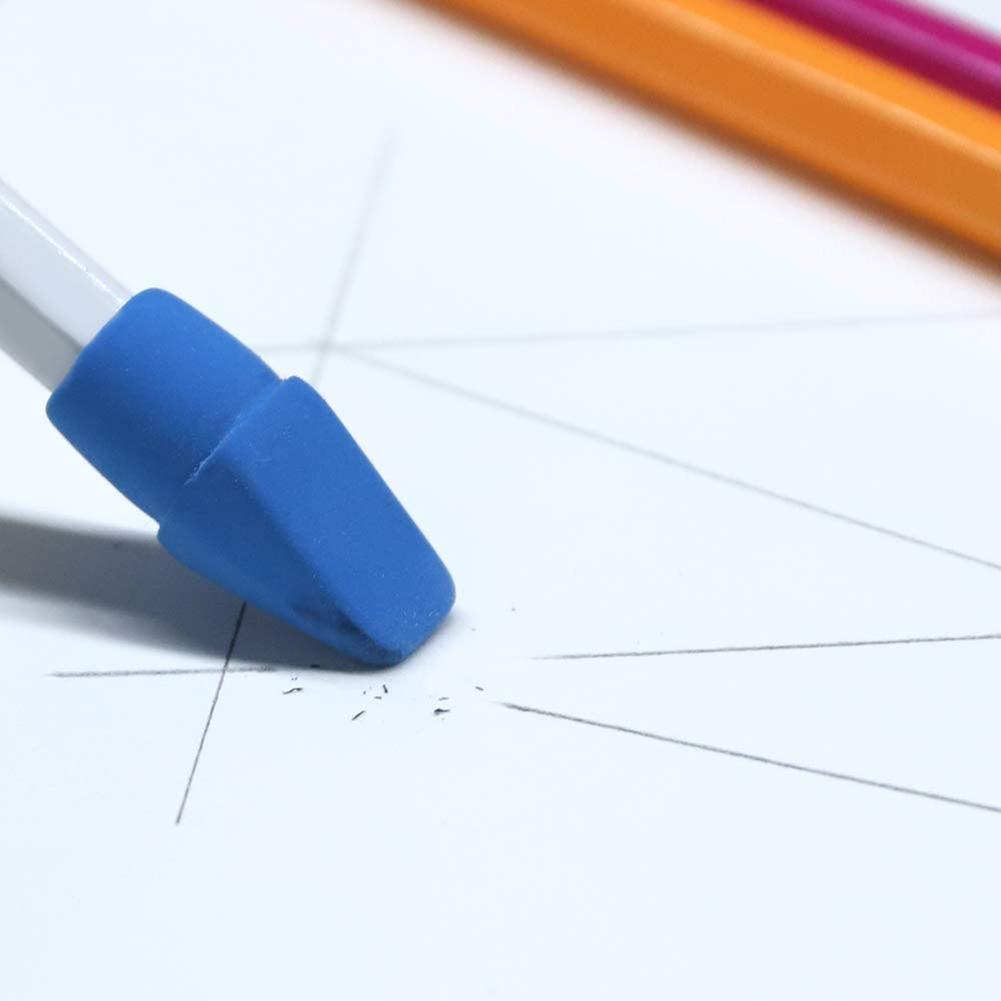 Soft Durable Flexible Cute Colored Pencil Rubber Erasers For School Kids Pencil Eraser