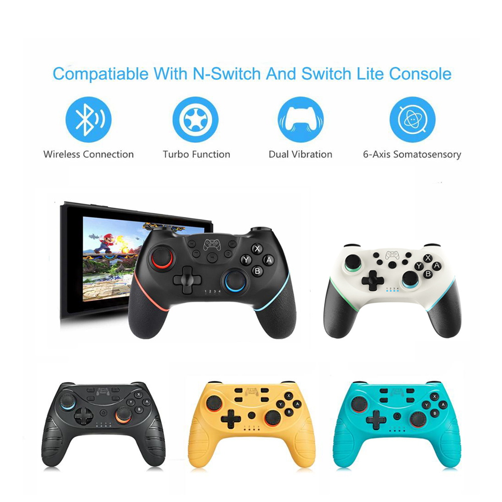 Беспроводной Bluetooth геймпад для Nintendo Switch Pro NS-Switch Pro, игровой джойстик, контроллер для консоли Switch с 6-осевой ручкой