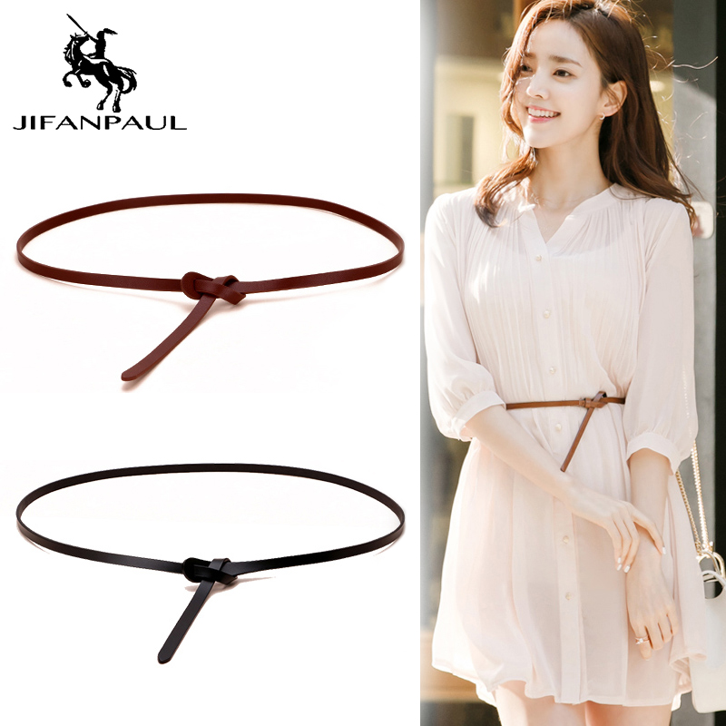 JIFANPAUL Women's Decorative Accessories Dress Straps Show The Body Fashion Belts Top Quality Ladies Thin Belt Free Shipping