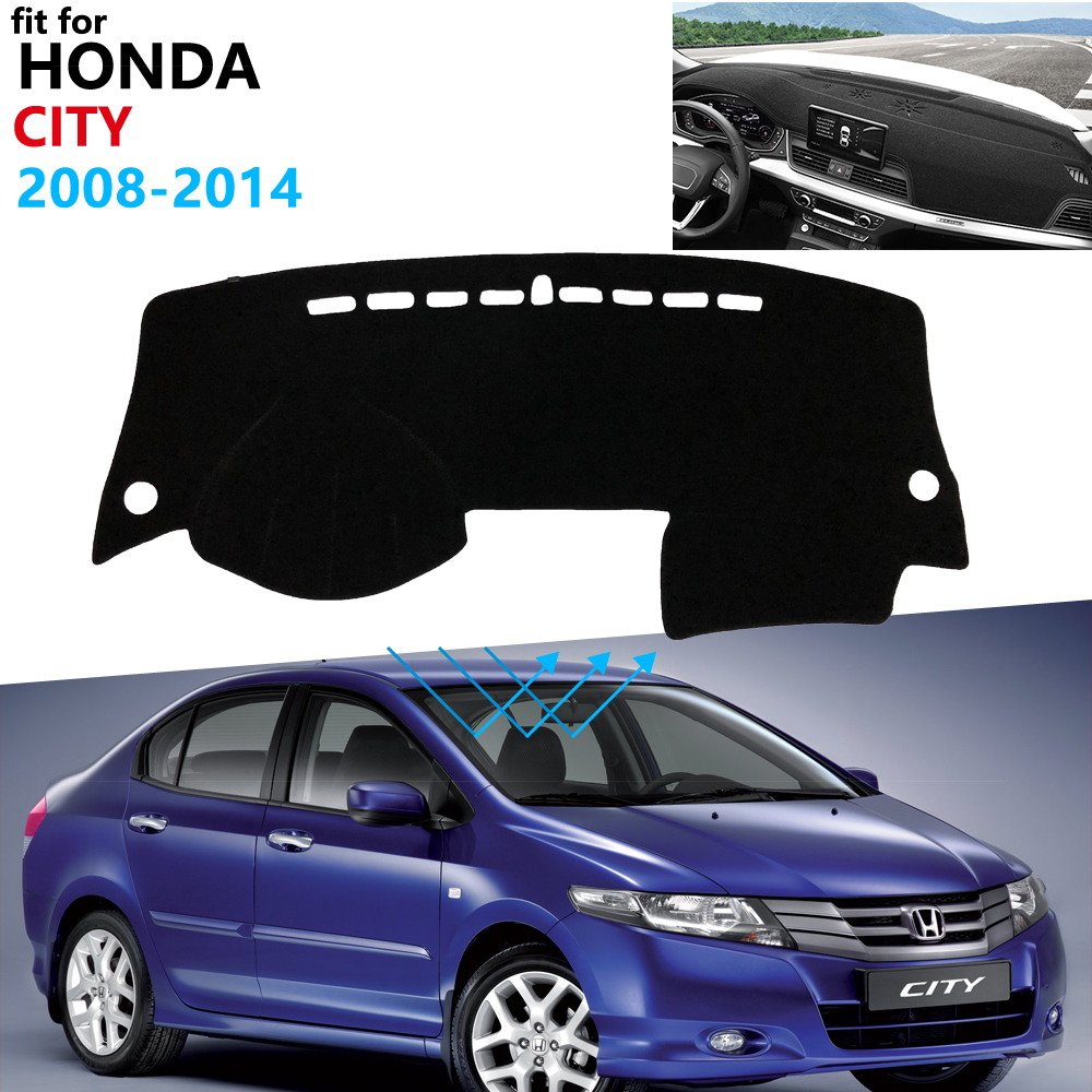 Dashboard Cover Protective Pad For Honda City 2008~2014 Car Accessories Dash Board Sunshade Carpet GM2 GM3 2009 2010 2013
