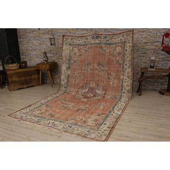 2301 -Perfect Turkish Traditional floral design Real handmade Wool Rug, Unique Area Rug Livingroom Bedroom Kitchen Rug, фото