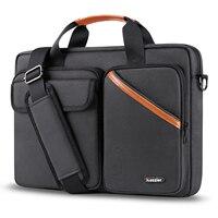 ICozzier 15.6 인치 멀티 포켓 노트북 슬리브 서류 가방 대용량 어깨 가방 전자 액세서리 주최자 케이스