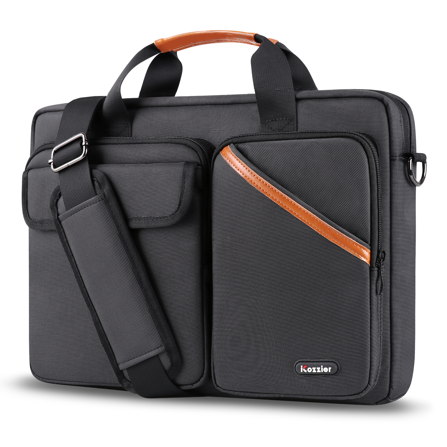iCozzier 15.6 Inch Multi-pocket Laptop Sleeve Briefcase Large Capacity Shoulder Bag Electronic Accessories Organizer Case