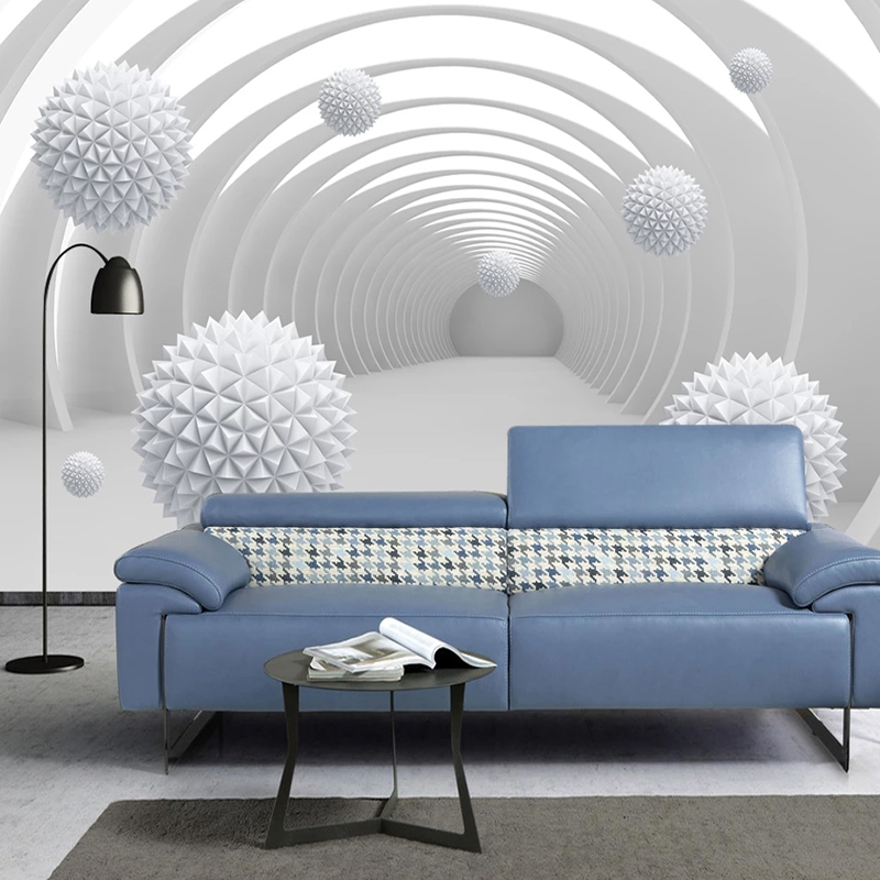 Custom Photo Wallpaper Abstract Tunnel Space Circle Ball 3D Living Room Sofa TV Background Wall Home Decor Mural Wall Covering