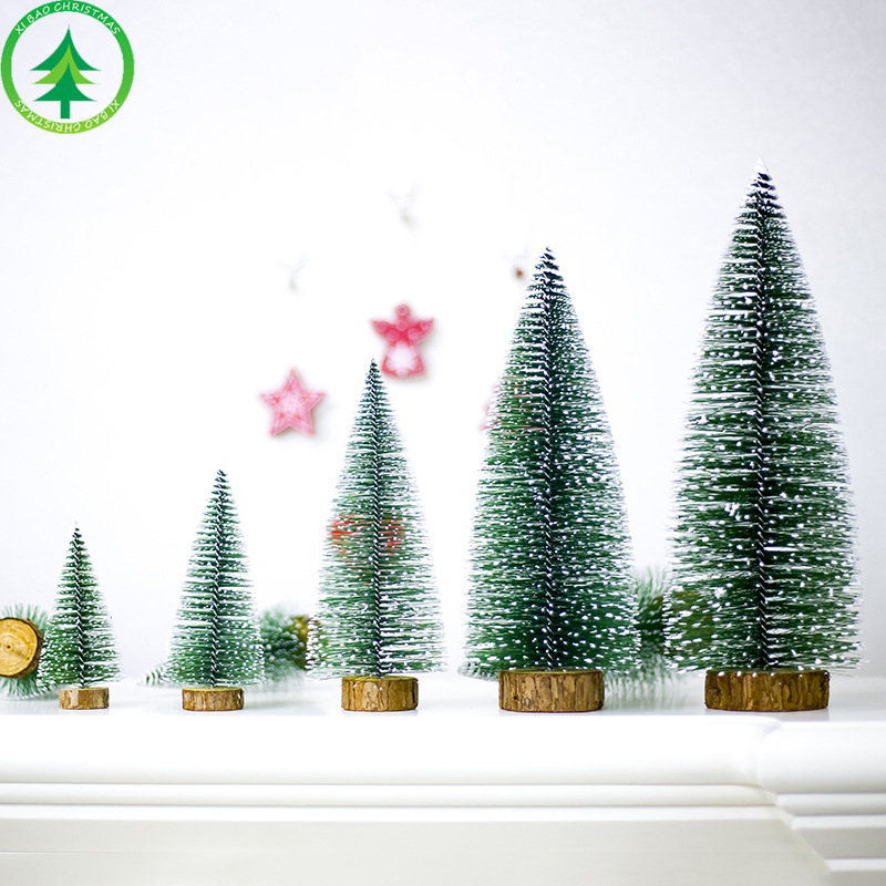 Jubilee Treasure Model Mini Christmas Tree Christmas Desktop Decorations Wood Christmas Tree Ornaments