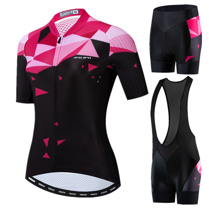 JPOJPO Top Quality Pro Cycling Clothing Women Summer Racing Sport Cycling Jersey Set Mountain Bike Clothing Team Cycling Wear