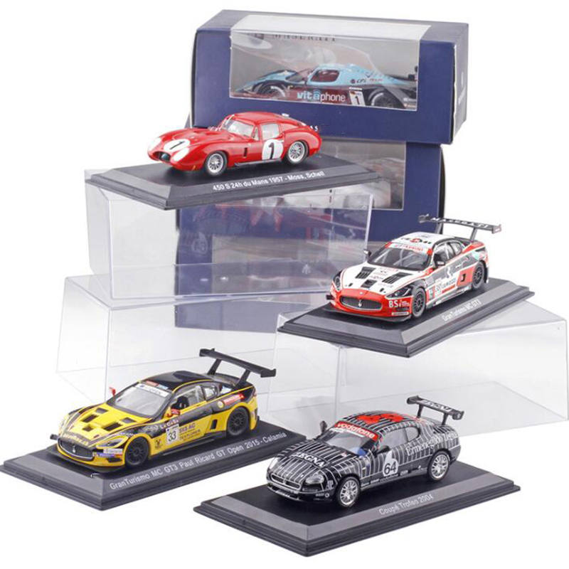 1:43 Scale Metal Alloy Classic Maseratis Racing Rally Car Model Diecast Vehicles Toys For Collection Display For Kids Gifts
