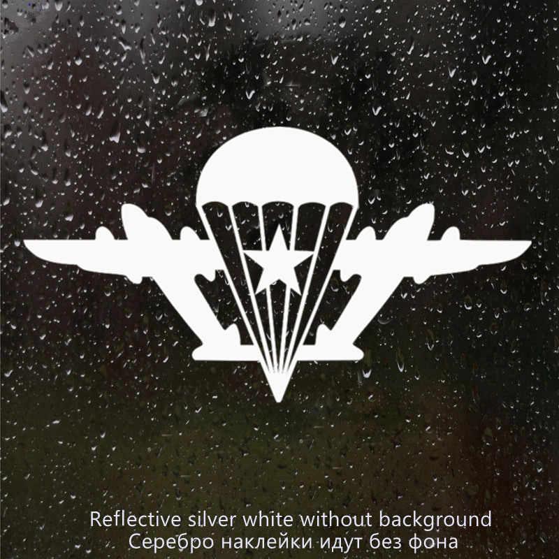 CS-220 #11*20cm w powietrzu z gwiazdą bez spadochroniarza śmieszne naklejki samochodowe i naklejka srebrne/czarne naklejki samochodowe z winylu