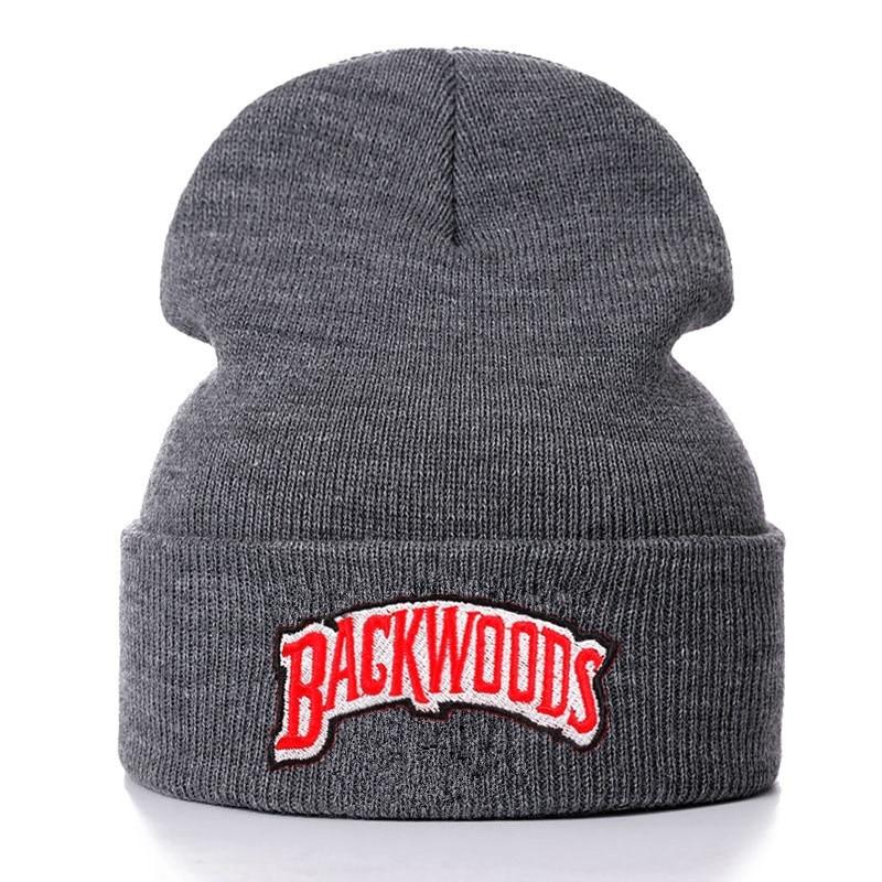 Beanie Backwoods Letter Knitted Winter Hat Cotton Hip-Hop Skullies Unisex Cap