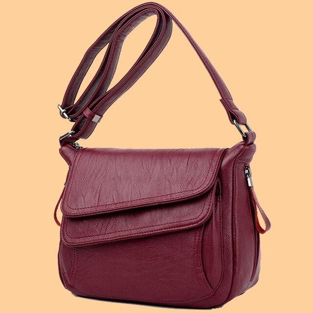 Мягкая женская сумка через плечо