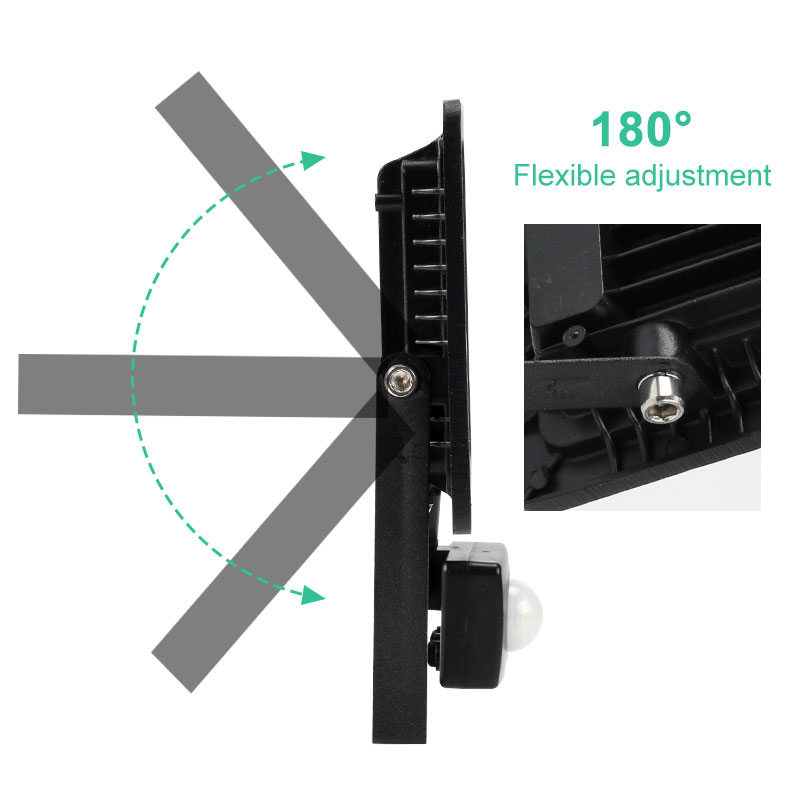 cheapest LED Floodlight 10W 20W 30W 50W Waterproof PIR Motion Sensor Floodlight 220V 240V Outdoor Wall Lamp Flood Light Spotlight