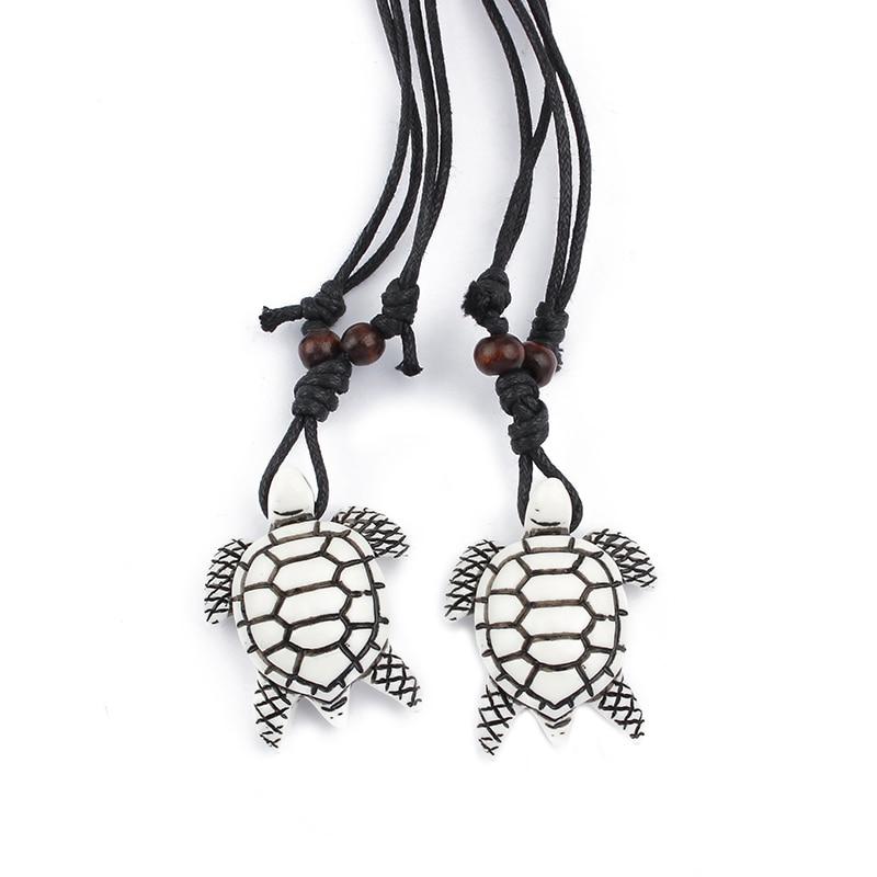1 개 화이트 부족 가짜 야크 뼈 바다 거북이 하와이 - 패션 쥬얼리 - 사진 2