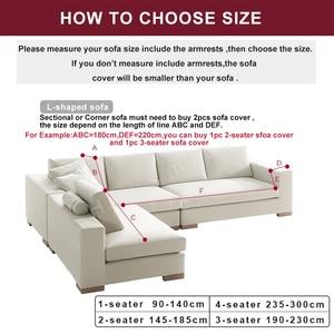 Image 3 - Одноцветные Угловые чехлы для диванов для гостиной эластичные спандекс секционные чехлы для диванов растягивающееся полотенце для диванов