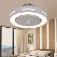 Dropshipping LED Ceiling Fan 50cm with light Remote Control mobile phone app Modern Home Decor 110V 220v lamp Study Living room