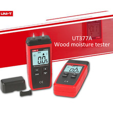 UNI-T UT377A Digital Wood Moisture Meter Hygrometer Humidity Tester for Paper Plywood Wooden Materials LCD Backlight new