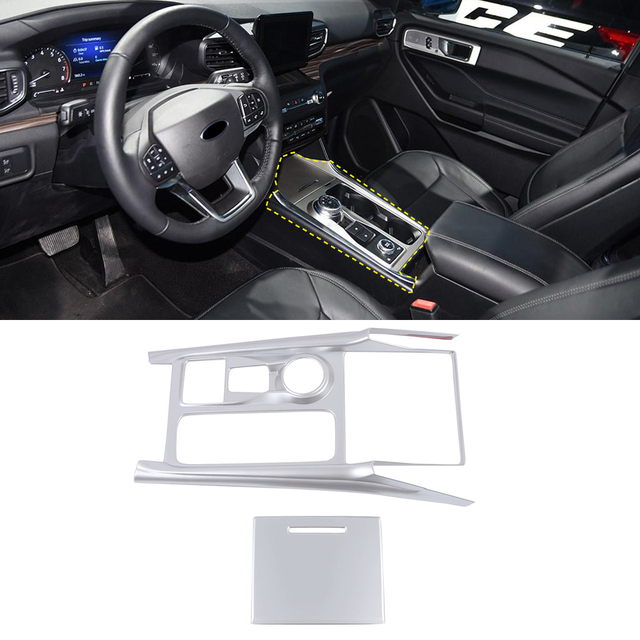 Fit for Ford Explorer U625 2020 2021 Car Accessories Interior Decoration ABS Console Gear Shifter Panel Cover 2pcs Left Hand 4