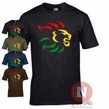 Reggae lion t-shirt dub ska skanking roots club music festival cool Tshirt(China)