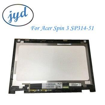"""Klasa A + dla Acer Spin 3 SP314-51 N17W5 14.0 """"dotykowy Digitizer + LCD LED matryca ekranu montaż nowy wyświetlacz z ramą"""