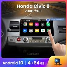 AWESAFE PX9 pour Honda Civic 8 2005-2011 autoradio multimédia lecteur vidéo GPS aucun 2din 2 din Android 10.0 2GB + 32GB