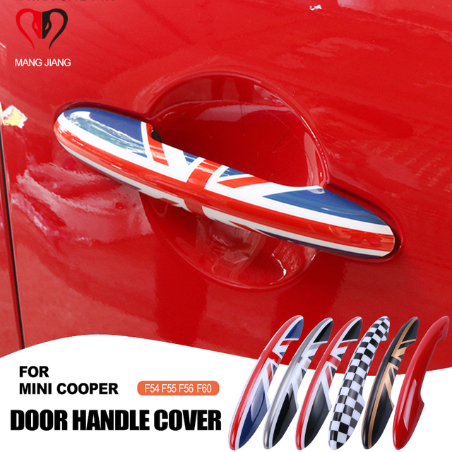 For Mini cooper F55 F56 F54 F57 F60 Countryman Car Styling Exterior Door Handle Cover Trim Protective Case car accessories JCW