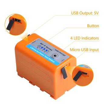 Batmax NP-F770 NP-F750 NP F770 np f750 NPF770 750 con salida de carga USB para Sony NP F970 F960 F550 F570 QM91D CCD-RV100 TRU47E