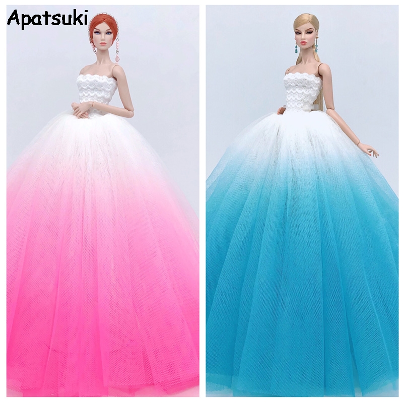 Gradient Fashion Doll <font><b>Clothes</b></font> For Barbie Doll Outfits Wedding Dresses For <font><b>1/6</b></font> <font><b>BJD</b></font> Doll Toys For Children Kids Toy image