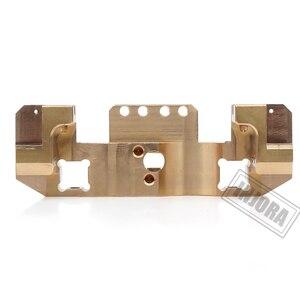 Image 5 - Injora metal bronze frente servo suporte para 1/10 rc carro rastreador traxxas trx4 TRX 4 TRX 6 atualizar peças
