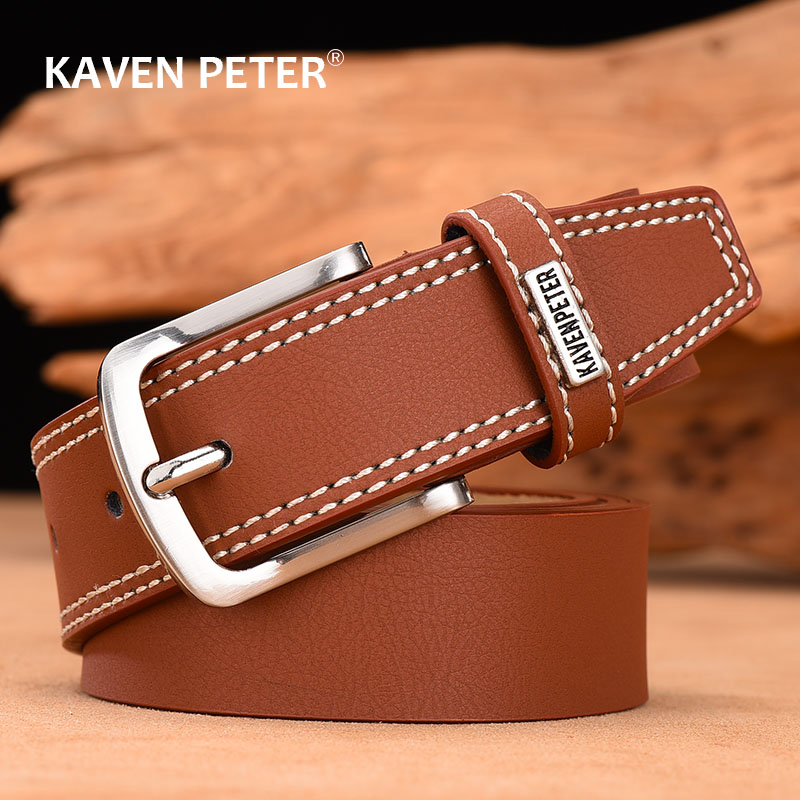 Designer Belts For Men High Quality Men Belt Cow Leather Fashion Vintage Male Strap For Jeans Black Dark Brown Dark Blue