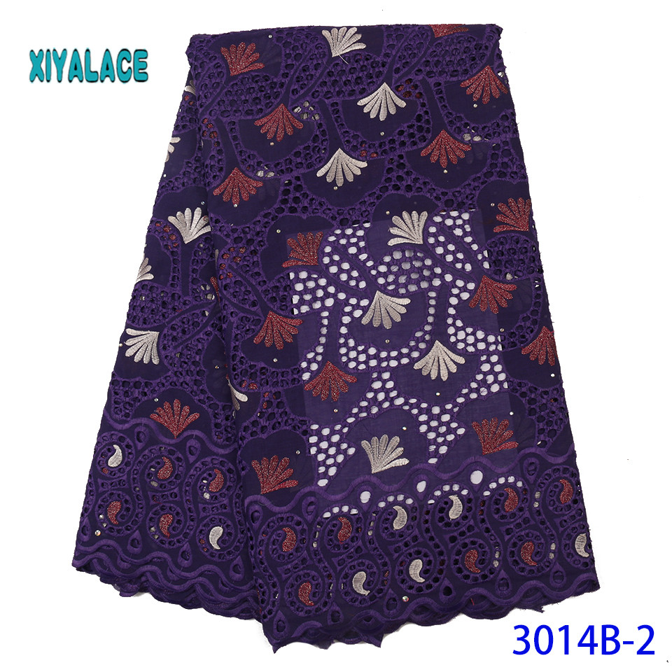 African Lace Fabric 2019 High Quality Lace French Lace Fabric Embroidery Fabric Nigerian Voile Suisse Lace Fabrics YA3014B-2
