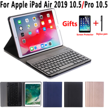 English Spanish Russian Bluetooth Keyboard Case for Apple iPad Air 2019 3 3rd 10.5 A2152 A2153 A2123 Pro 10.5 A1701 A1709 Cover