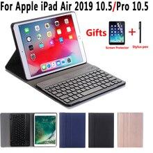 Funda con teclado ruso y Bluetooth para Apple iPad Air 2019, 3, 3, 3, 3, 10,5, A2152, A2153, A2123 Pro, 10,5, A1701, A1709
