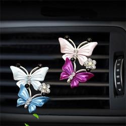 Désodorisant de climatisation de voiture, désodorisant de voiture, parfum papillon mignon, Clip de décoration, sortie de voiture, purificateur d'air, déodorant