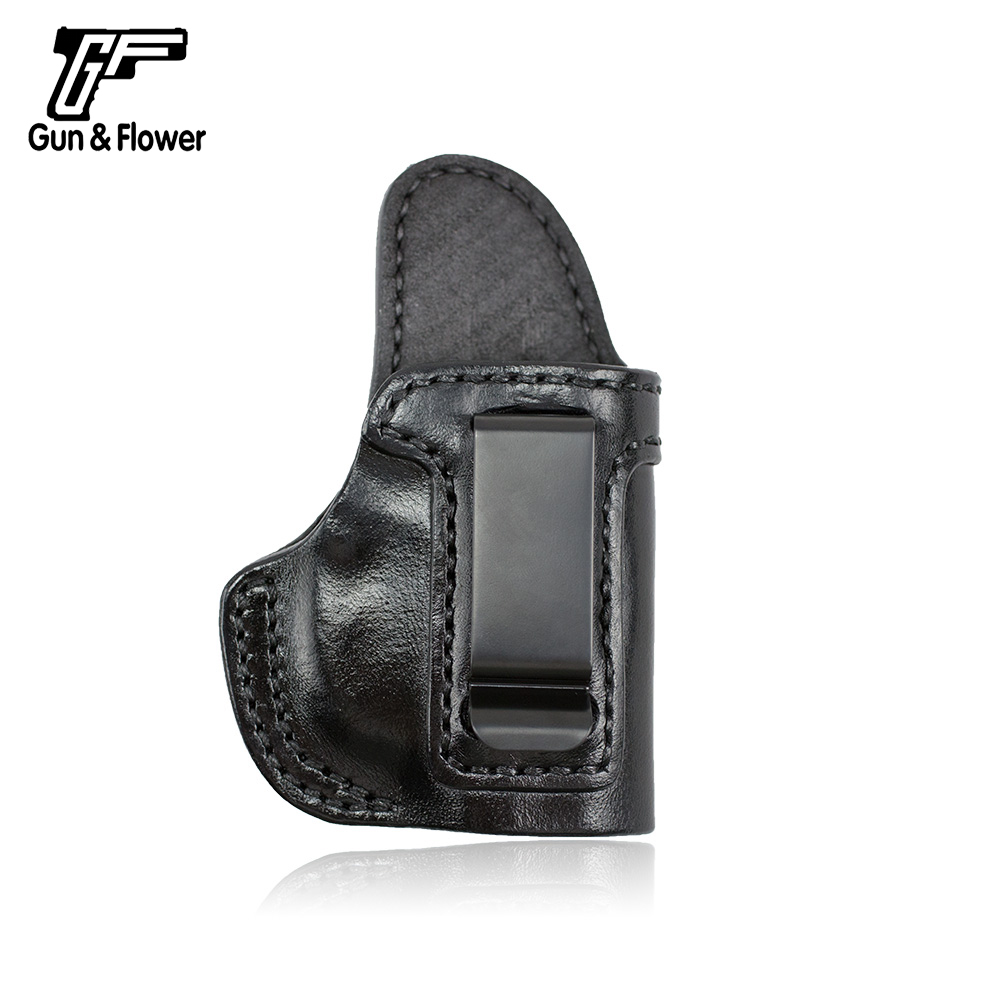 Gun&Flower Walther PPK Concealment Quick Draw Leather Pouch Case IWB Holster Carry Gun Holster