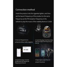 Двойное автомобильное usb-устройство для зарядки телефона с fm-передатчиком беспроводной Bluetooth Радио адаптер