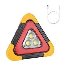 Led solar recarregável carro tripé luz de advertência condução triângulo segurança reflexiva luz de emergência luz trabalho