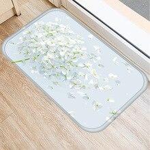 1 40x60cm נורדי מודרני מינימליסטי פרח דפוס החלקה מחצלת חיצוני מטבח סלון רצפת מחצלת בית חדר שינה קישוט ..