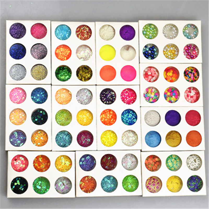 Slime charms Glitter Clear Filler Slime Box Toys for Children Charms Modeling Clay Kit Accessories Funny Gift 4