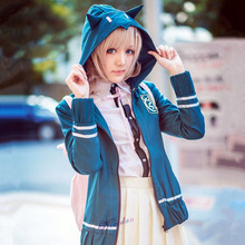 Cosplay Uniform Costume Shirt Jacket Chiaki Nanami Anime Danganronpa Full-Set Women Wig-Bag