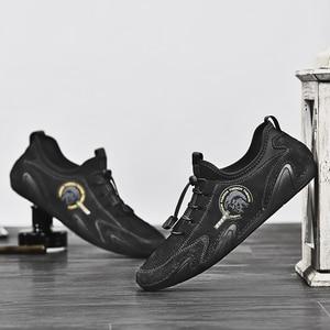 Image 4 - Valstone 정품 가죽 캐주얼 신발 남자 품질 남자 스 니 커 즈 드라이브 신발 탄성 레이스 업 슬립에 신발 자연 피부