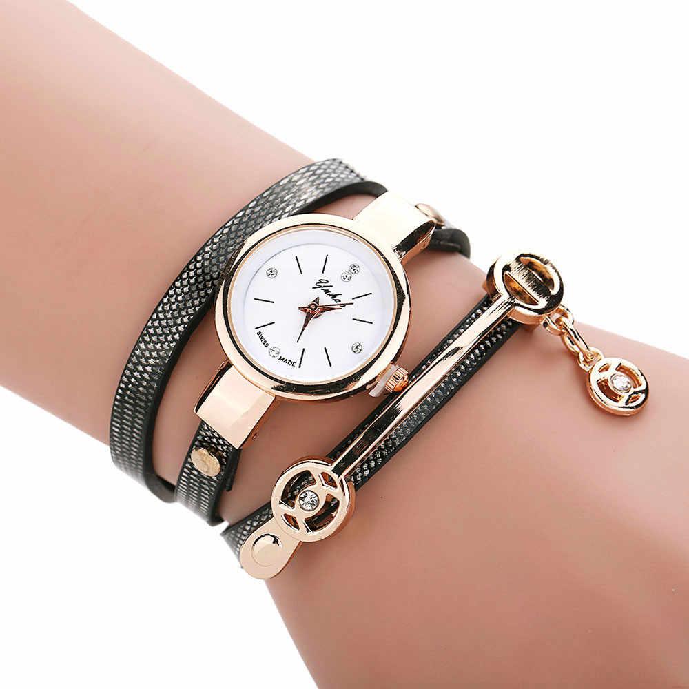 Mulheres Grife De luxo de Couro Retro relógio de Pulso Pulseira de Metal Pequeno Pulseira Quartzo Mulheres Relógio Montre Femme Marque De Luxe 2019