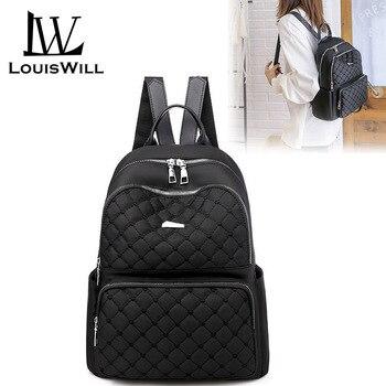 LouisWill Women Backpack School Backpacks Fashionable Ladies Casual Simple Student Bags Waterproof Oxford Cloth
