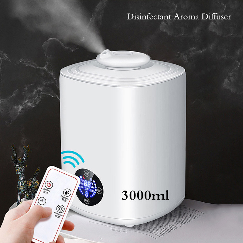 3L Disinfectant Aroma Diffuser Smart Remote Control Ultrasonic Essential Oil Diffuser 25W Timing Humidifier Home Air Purifier