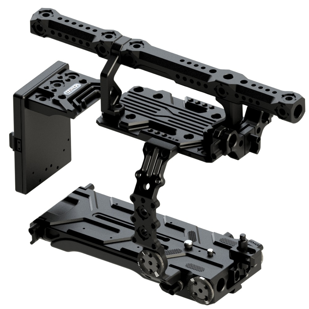 Hontoo FX9 cage camera rig with V-Lock v mount power plate for SONY PXW-FX9 camera 6K film video 15mm baseplate VCT version